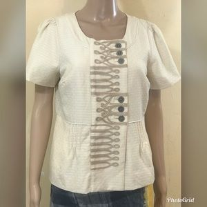 Anthropologie Tops - Anthropologie Floreat top with pleat detail